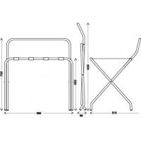 Металлическая подставка для чемодана с опорой к стенке