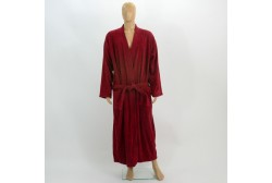 Terry bathrobe XL burgundy