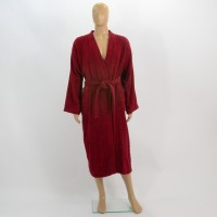 Terry bathrobe L burgundy
