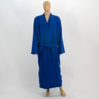 Terry bathrobe XL blue