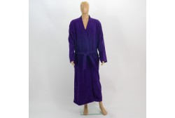 Terry bathrobe XL violet