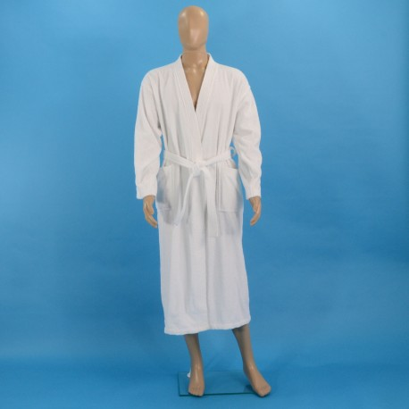 Махровый халат L белый