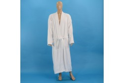 Terry bathrobe XL white