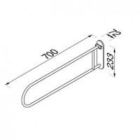 Foldaway safety bar 70 cm Geesa