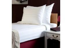 Pillow case 53*63 cm, satin stripe 3 cm