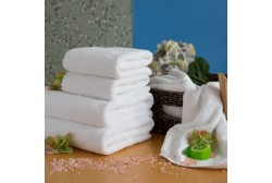 Terry towel LUX 75*150 cm white, 600 g/m2