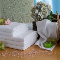 Вафельный полотенце 50*70 см белое