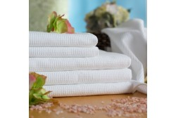 Вафельный полотенце 70*140 см белое