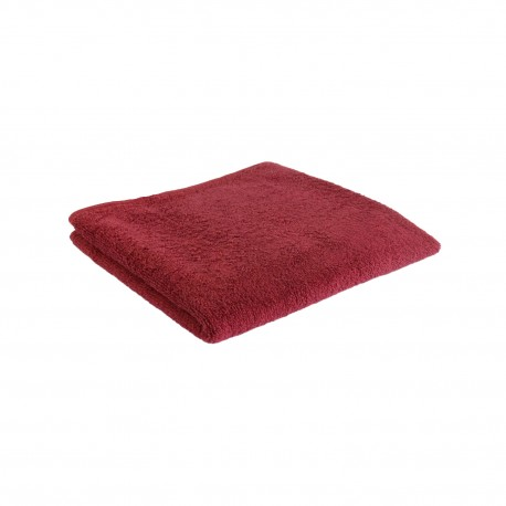 Burgundy red terry towel 50*100 cm