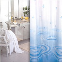Shower curtains with different colours