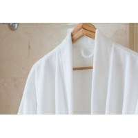 Lightfiber bathrobe XL white