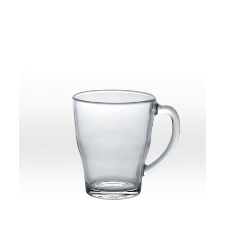 Transparent mug 35 cl, tempered glass