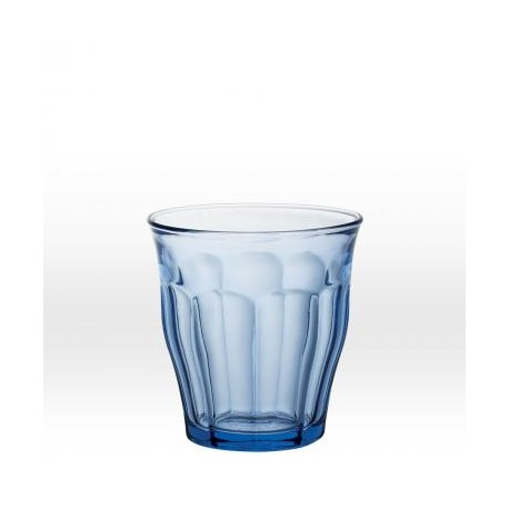 Blue tumbler 25 cl, tempered glass