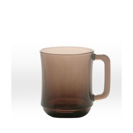 Прозрачная тёмно-коричневая кружка 31 cl, закаленное стекло