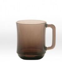 Transparent dark brown mug 31 cl, tempered glass