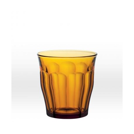Brown tumbler 31 cl, tempered glass