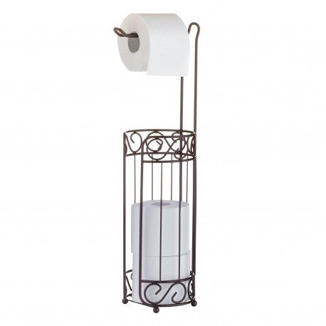 Toilet roll holder, with basket