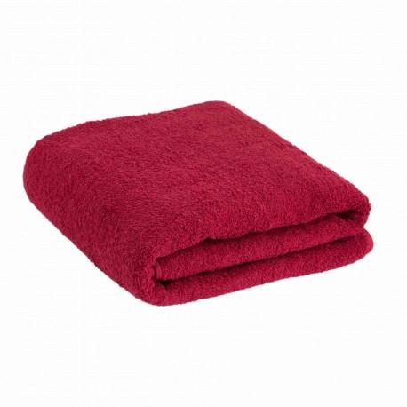 Большое бордово-красное полотенце 90*170 см