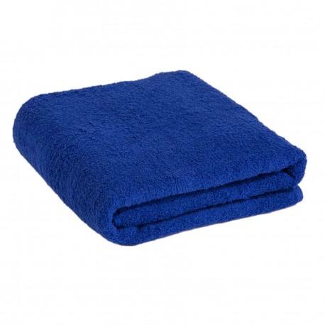 Большое синее полотенце 90*170 см