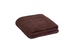 Большое тёмно-коричневое полотенце 90*170 см