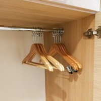 Anti-theft hanger with clips wooden