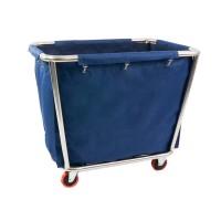 Dirty linen cart, blue bag