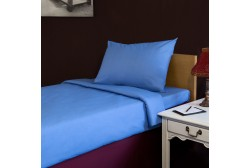 Bed sheet 160*280 cm, light blue single