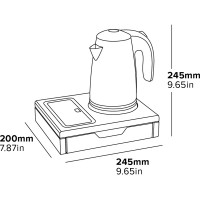 Veekeetja komplekt 600 ml, must