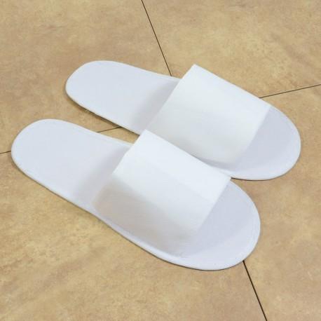 Hotel slipper non-woven top, open toe (cloth sole)