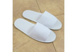 Mахровые тапочки откр. носком (подошва 5 мм)