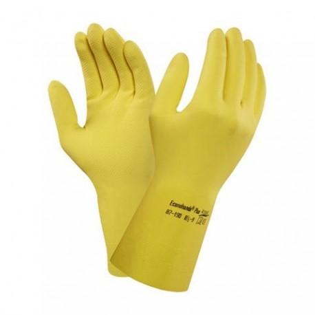 Латексные перчатки с подкладкой желтый L/8.5 Ansell