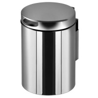 Litterbin 3 L wall mounted, polished stainless steel Geesa