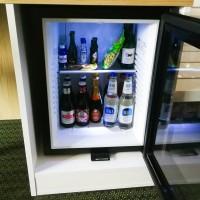 Minibar glass door 40 L, black