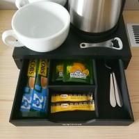 Hospitality tray set Compact, black