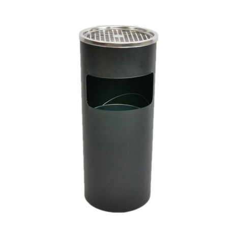 Waste bin-ashtray 26L with insert black