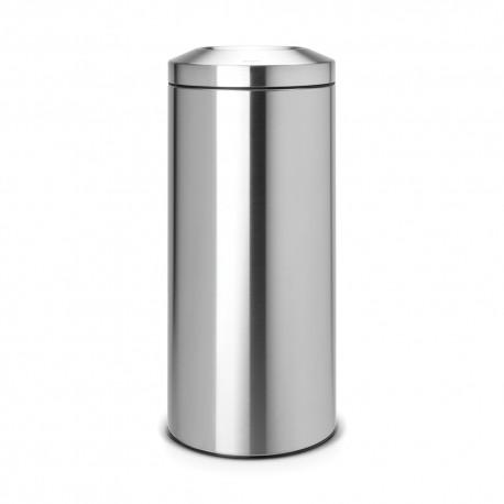 Waste bin 30 L, matt steel