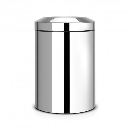 Waste bin 15 L, shiny