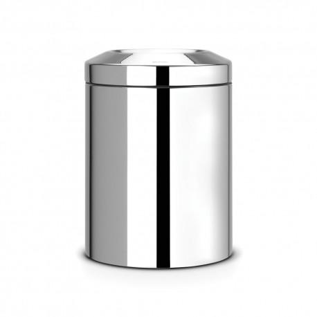 Waste bin 7 L, shiny