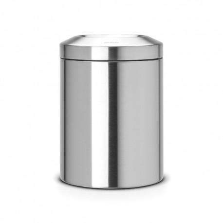 Waste bin 7 L, matt steel
