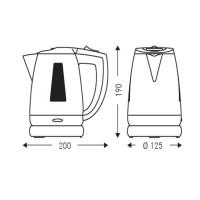 Water kettle 800 ml, white