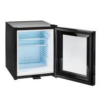 Minibar glass door 30 L, black