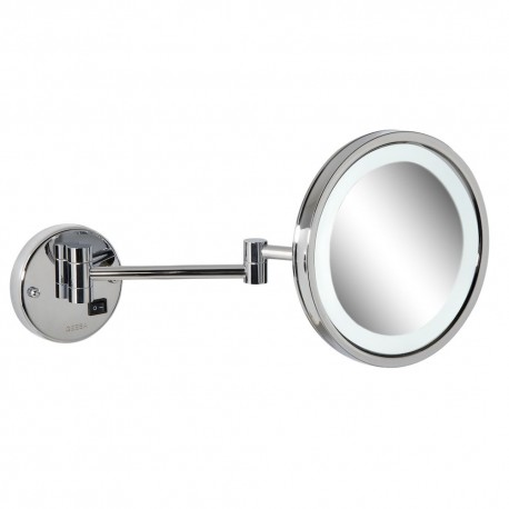Shaving mirror on double arm, LED, 3x magnification, ø 215 mm, Geesa
