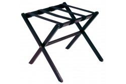 Wooden luggage rack dark brown