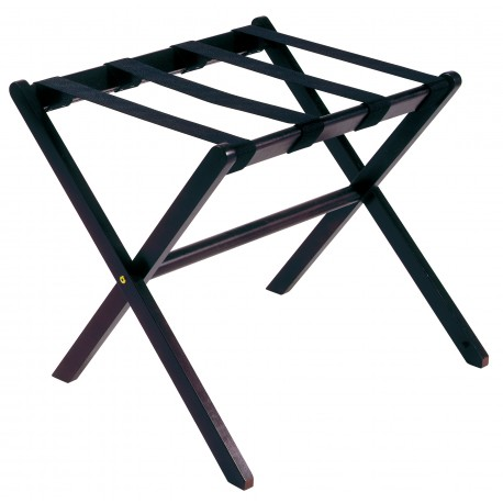 Wooden luggage rack black