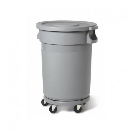 Пластиковый контейнер 80 л, серый