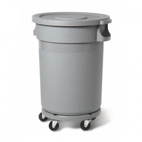 Plastic container 120L, grey