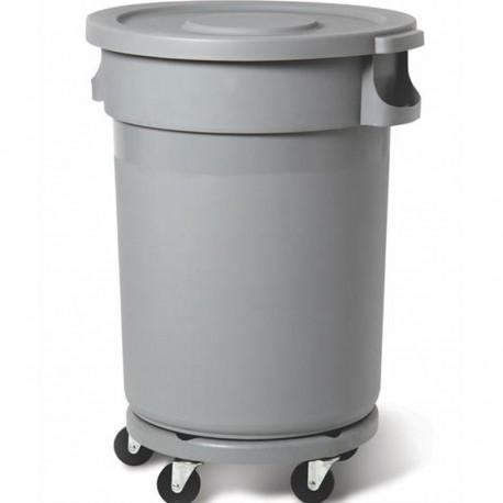 Пластиковый контейнер 168 л, серый