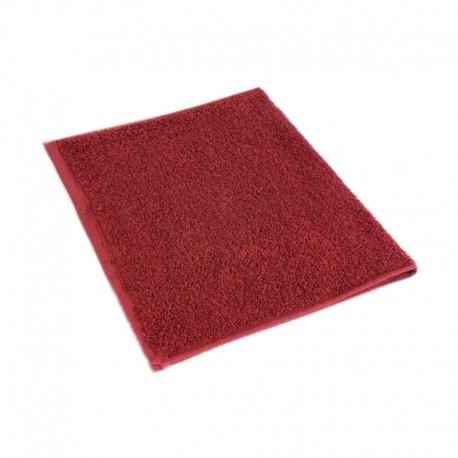 Burgundy red terry towel 30*50 cm