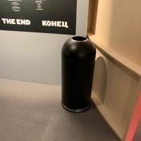Waste bin round 52 L, black