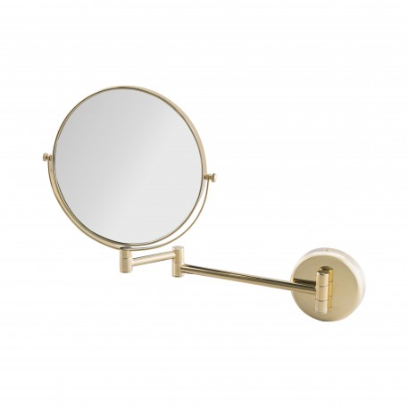 Double side mirror with double arm golden